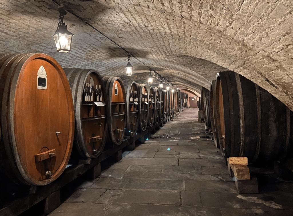 Ein Weinkeller in Straßburg